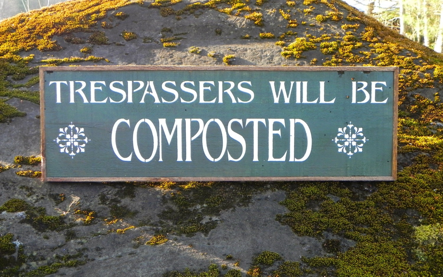 Trespassers sign humorous signs and sayings garden decor for Outdoor decorative signs