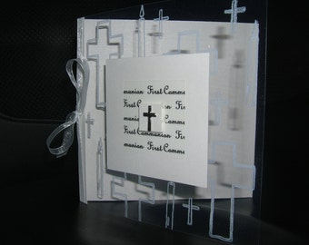 Lovely handmade really unusual personalised personalized 1st First Holy Communion card Daughter Son Goddaughter Godson