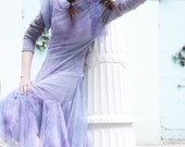 LILAC LAVANDER TULLE dress double layered  pale ombre watercolor breathtaking lightweight fairy