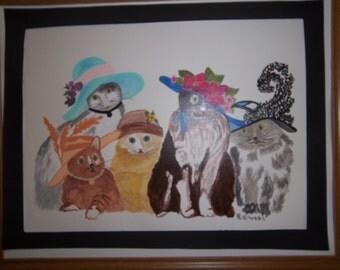 decorative prissy cats