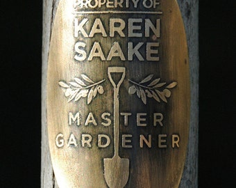 "Custom Garden Tool Badge, ""Master Gardener"""