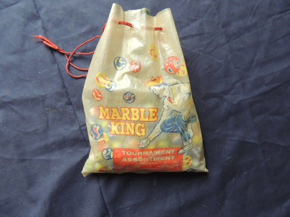 Marble King Tournament Bag with 76 assorted marbles