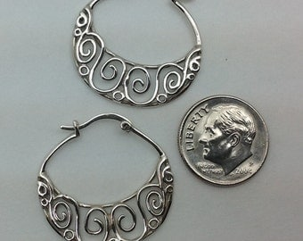 Hand made sterling hoop jewelry