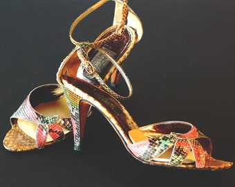 Arnoldo Marcella's Vintage Snakeskin High Heel Shoes