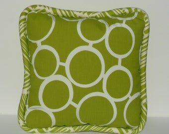 This listing is for one 20 x 20 Trina Turk Outdoor Pillow Cover- FRONT & BACK with PIPING