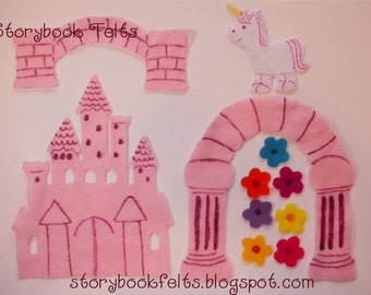 SHOP CLOSING SALE - Felt Princess Castle Play Set Without Storyboard