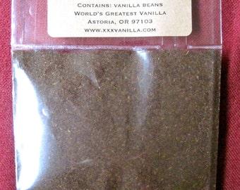 VANILLA POWDER - Sample Pack - Pure Ground Vanilla Beans, NO Filler, No Sugar, No Starch