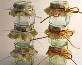 Rustic Wedding Favours - diy Wdding Favours - Gingham Favours