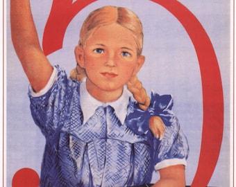 USSR poster, Soviet propaganda, Communism, 151