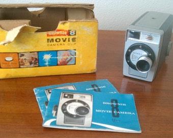 Vintage 1960's Kodak Brownie 8 Movie Camera