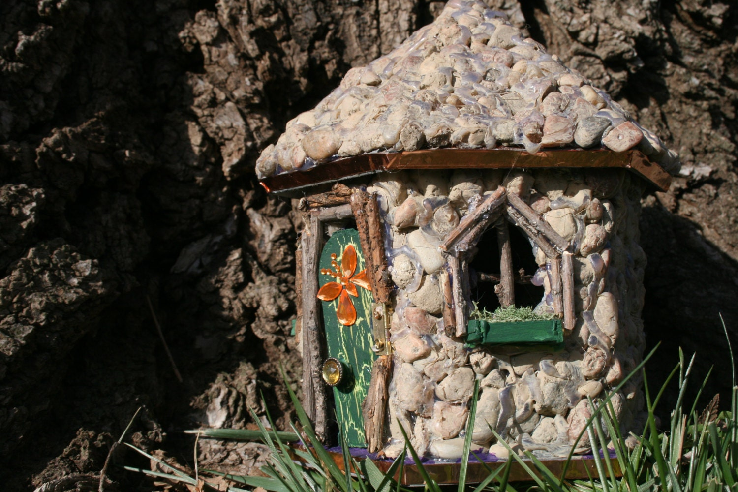 Fairy House Miniature Garden Doll House Handpainted