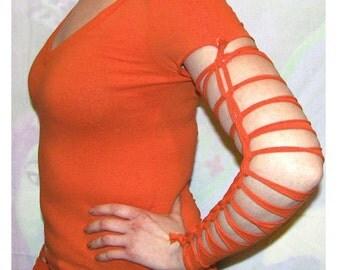Dark orange de/reconstructed longsleeve