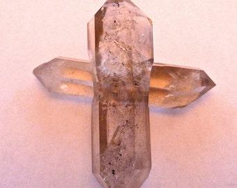 RARE Crystal CROSS Double Terminated Quartz Points