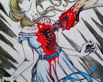 Original Watercolor Painting: Betrayal