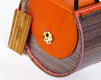Wood and leather.......handmade