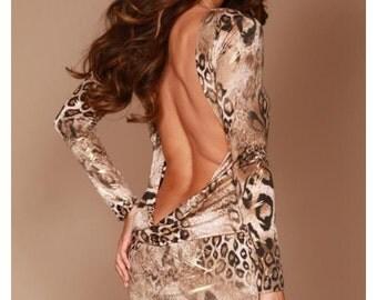 Leopard Classic backless dress