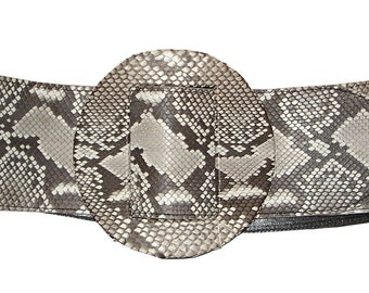 LEATHER HANDMADE BELT / Leather Belt / Belt Handmade / Belt Accessories / Python Belt / Belt Women.
