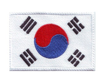 South Korea Flag Embroidered Patch