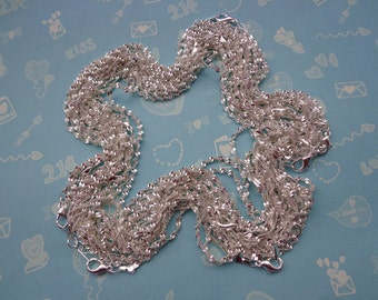 SALE--5 pcs17 inch Silver Plated Chain Necklace
