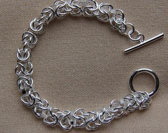 Sterling Silver Bracelet (925 silver plated), Fashion Bracelet, Silver Bracelet, Silver chain, JEW000008