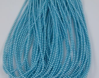 2mm Czech Glass Pearl - 24625 Auqa x 300pcs