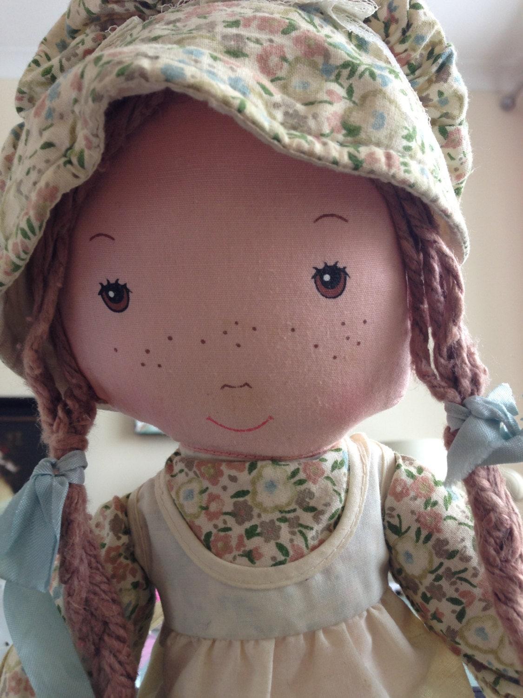 Holly Hobbie Friend Heather Rag Doll In Great Vintage