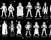 Star Wars Car Family Decals