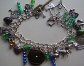 LOTR / Hobbit Themed  Tibetan Siver Charm Bracelet