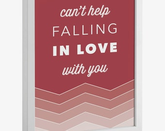 Can't Help Falling in Love with You Lyrics Printable
