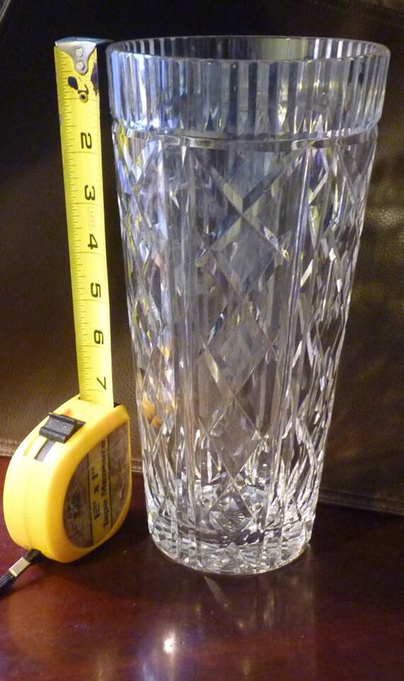 Vintage Waterford Killeen Crystal 10 Inch Tall Flower Vase