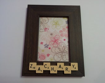 Scrabble Photo Frame - Personalised