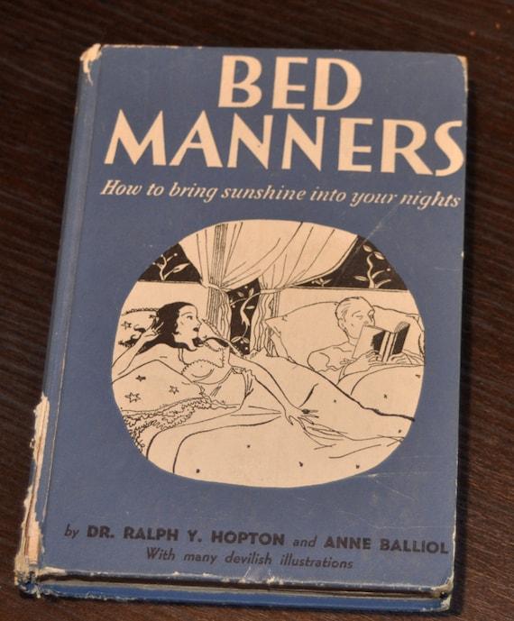 Vintage Hardcover Book : Vintage bed manners hardcover book