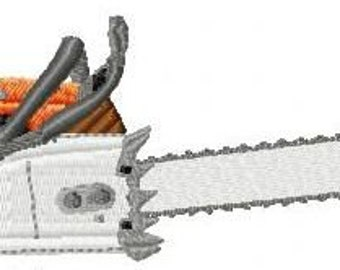Embroidery pattern - chainsaw