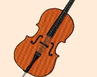 Embroidery pattern - cello