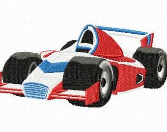 Embroidery pattern - Formula 1 racing car