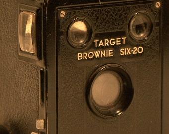 Vintage Box  Brownie Target Six-20 Film Camera w/Lens
