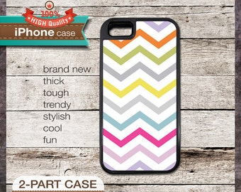 Modern Chevron 18 Multi-Color 1 Design - iPhone 6, 6+, 5 5S, 5C, 4 4S, Samsung Galaxy S3, S4