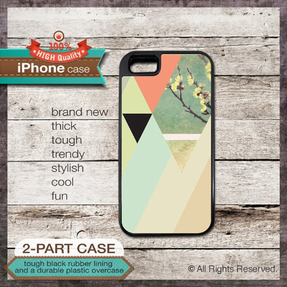 iPhone 5 Case Pastel Geo Design No. 1 with Green, Yellow, Orange - Design Cover 156