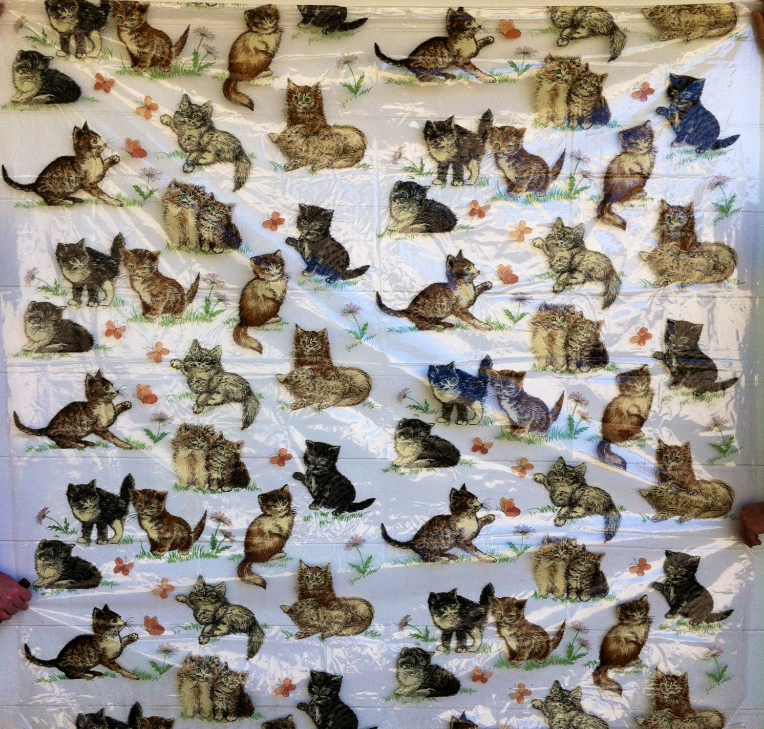 Hipster Cat Pattern Cute vintage hipster cat kitty