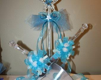 cake server & knife decorated