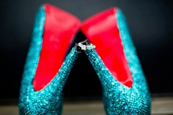 Crystal Tiffany Blue Wedding Prom Special Event Shoes