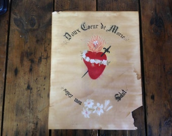 French Sacred Heart Painting