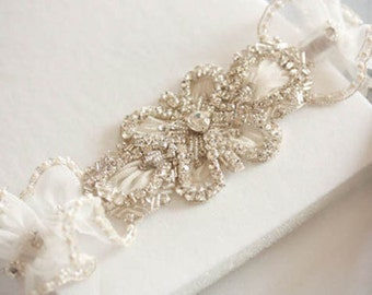 Bridal Garter  - Magnolia  (Made to Order)