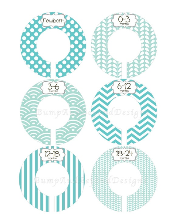 Custom baby closet dividers boy modern by bumpandbeyonddesigns for Clothes divider template