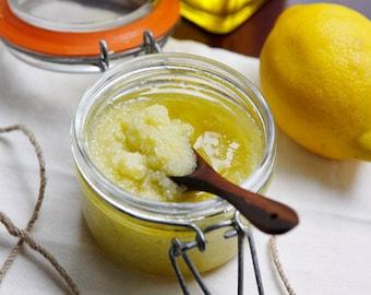 Organic Fresh Lemon Sea Salt Scrub