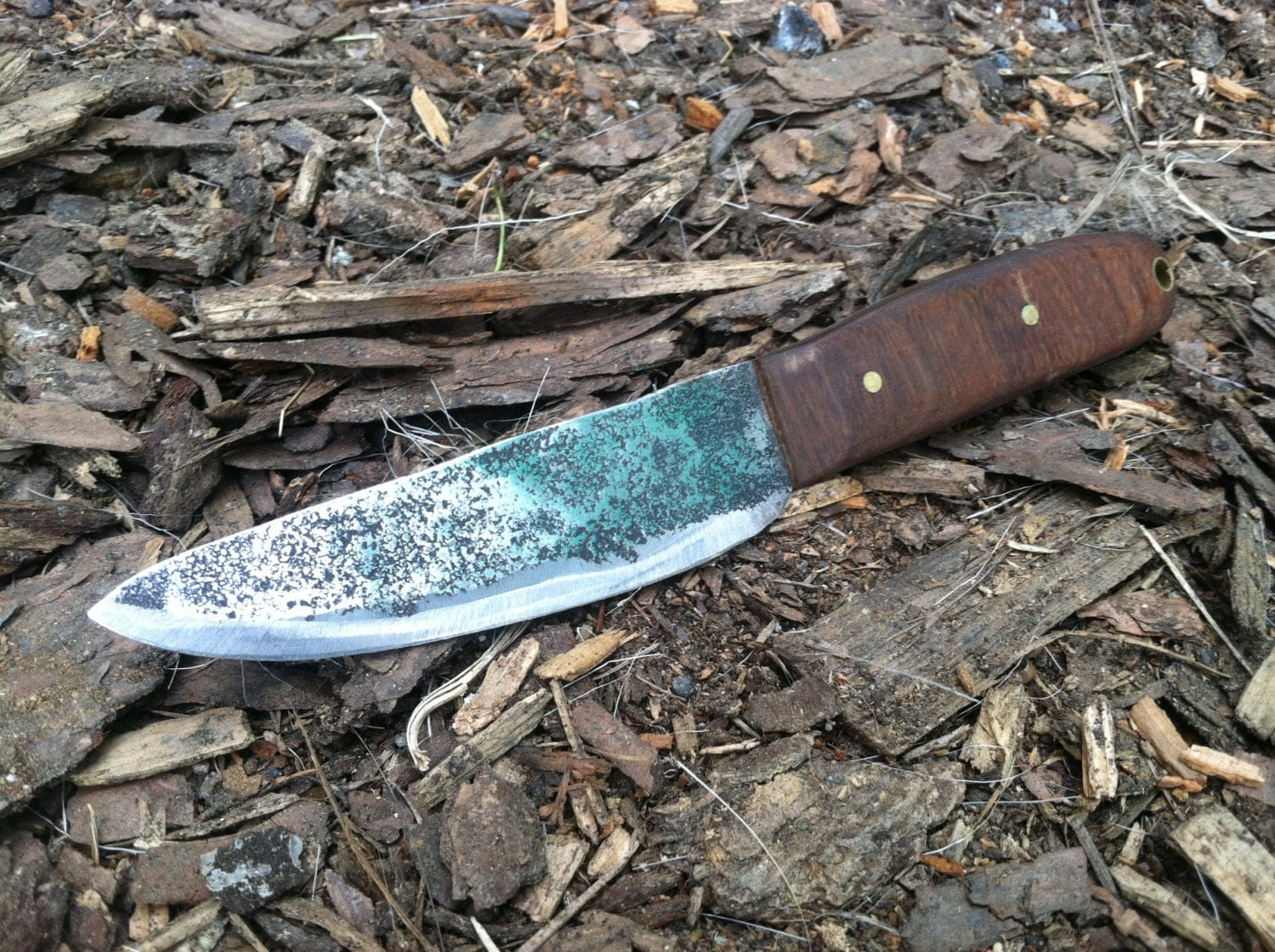 Hand Forged Knife Camping Knife With Hand Made Wood Handle