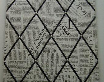Newspaper Memo Board