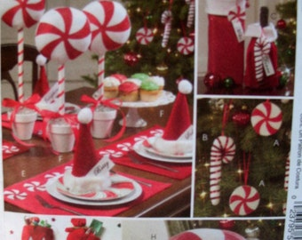 McCalls Holiday pattern,  McCalls 5262 Christmas Decorations