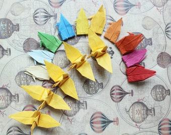500 Multicolored Origami Cranes 6 x 6cm Weddings Origami Christmas Ornament Japanese Bird Paper Crane