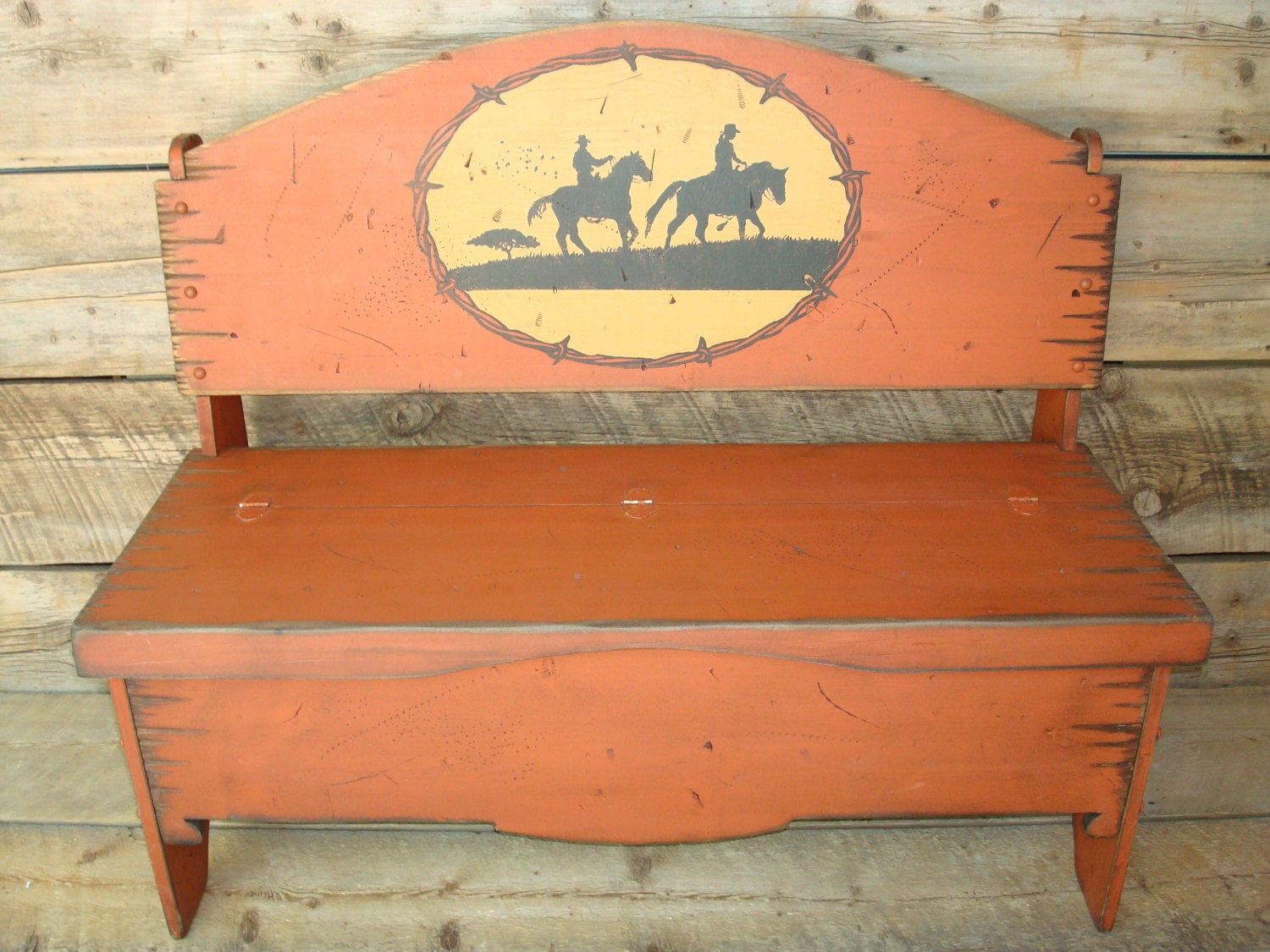 Trunk Bench Storage Bench Western Bench Solid Pine Wood
